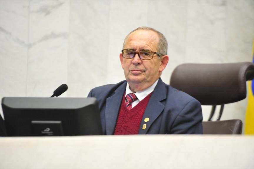 Deputado Delegado Recalcatti (PSD), presidente da Comissão de Cultura da Assembleia Legislativa do Paraná.
