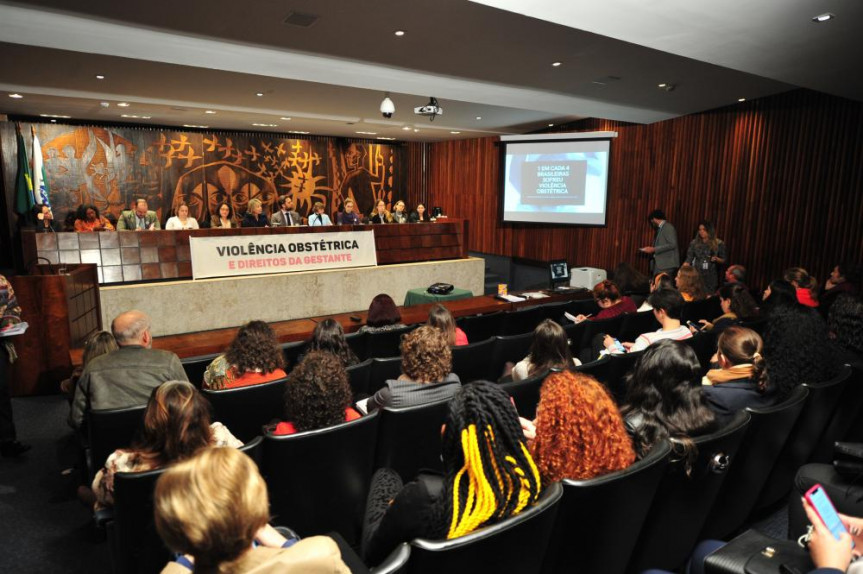 Audiência pública debateu a Violência Obstétrica e Direitos da Gestante. Segundo dados, 1 em cada 4 brasileiras sofreu violência obstétrica.