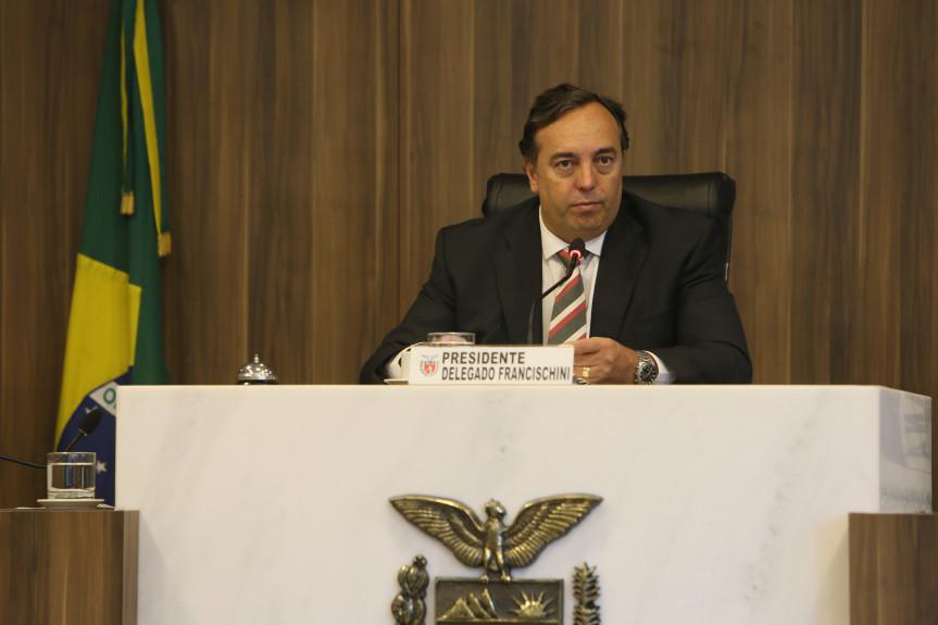 Deputado Delegado Francischini (PSL), presidente da CCJ, e relador do projeto que Executivo que pede autorização para contratação de empréstimo financeiro.