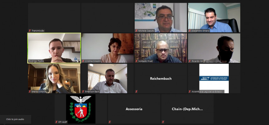 Durante reunião realizada nesta terça-feira (15), parlamentares relatam as ações da Frente Parlamentar para o enfrentamento da Covid-19.