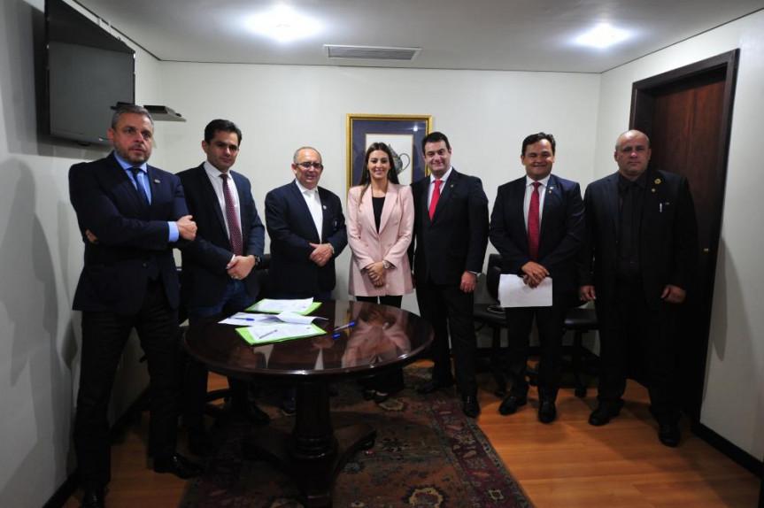 Deputados que integram a Comissão de Defesa dos Direitos do Consumidor da Assembleia Legislativa do Paraná.