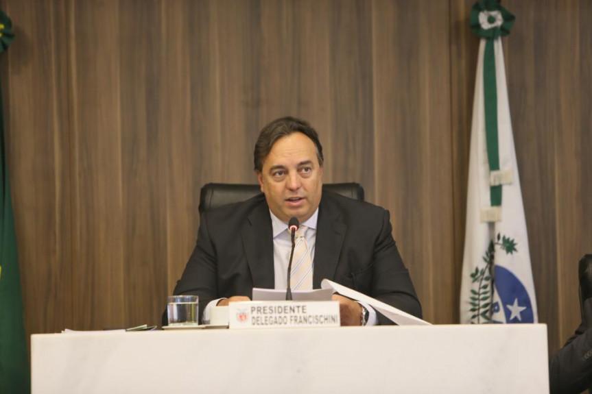 Deputado Delegado Francischini (PSL), presidente da CCJ, e relator do projeto que institui o Fundo de Combate à Corrupção (Funcor/PR).