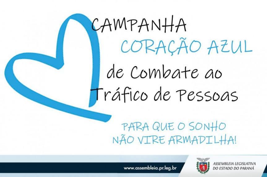 Campanha Coração Azul, que tem como marco especial a data de 30 de julho, marca o Dia Estadual Contra o Tráfico de Pessoas