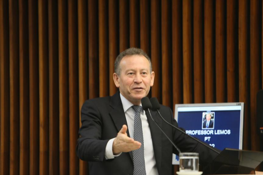 Deputado Professor Lemos (PT), líder da Oposição na Assembleia Legislativa do Paraná.