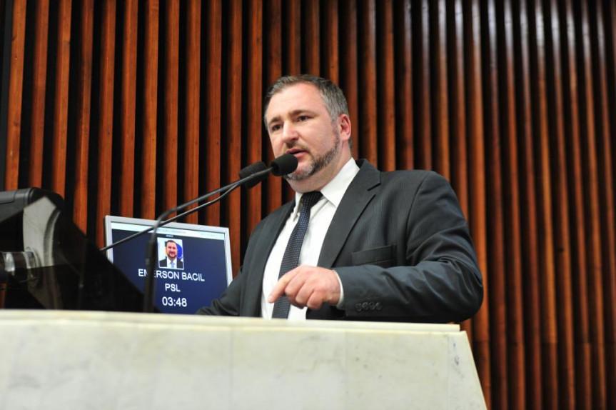 Deputado Emerson Bacil (PSL): objetivo é abrir espaço para o debate.