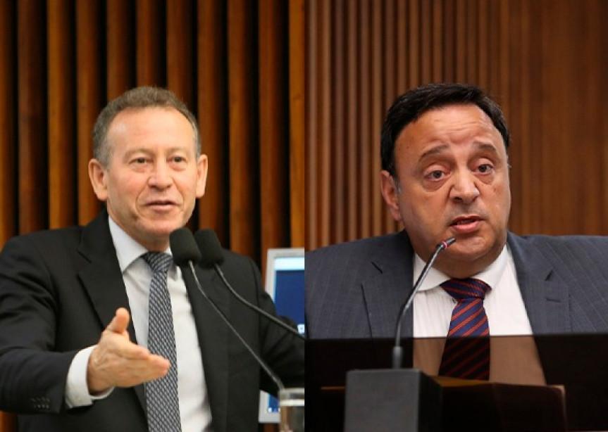 Deputados Professor Lemos e Hussein Bakri, líderes da Oposição e do Governo na Assembleia Legislativa do Paraná.