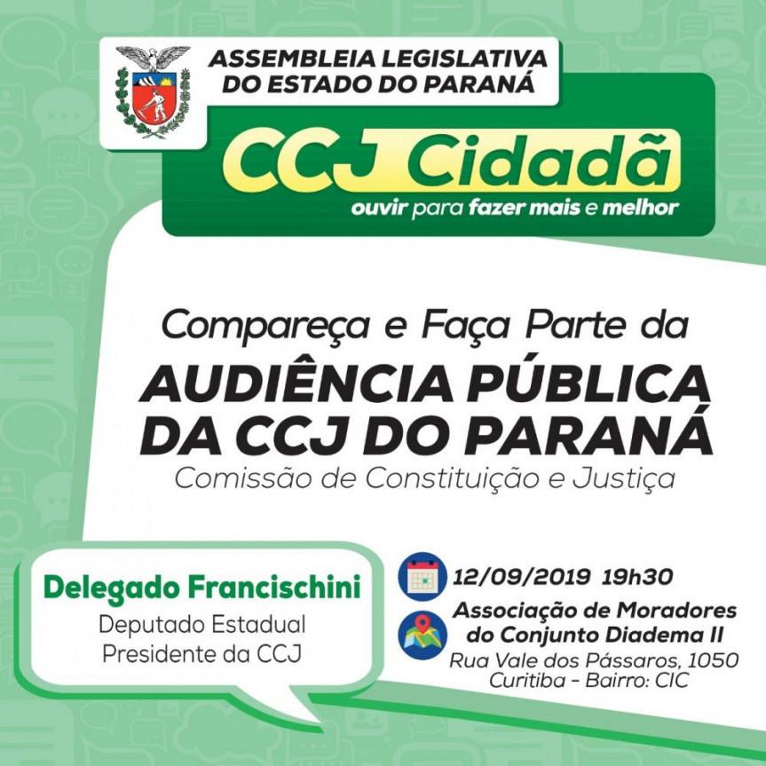 CCJ irá percorrer cidades do Paraná para ouvir a população.