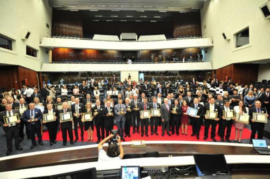 A cerimônia da 6ª edição do Prêmio Gestor Público Paraná foi realizada na Assembleia.