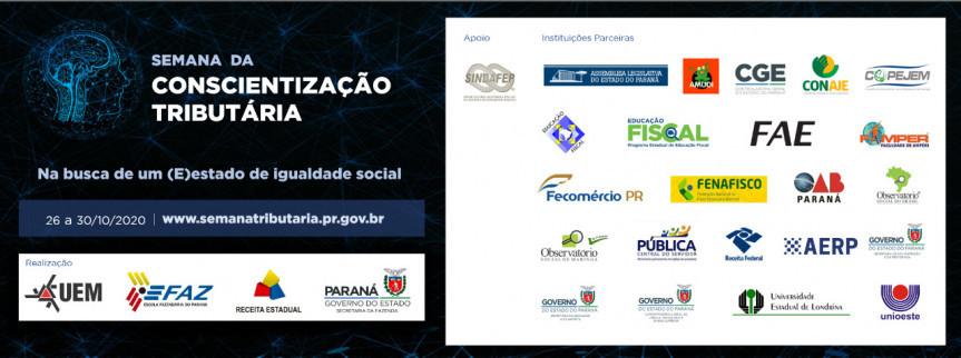 Evento, criado por Lei Estadual em 2019, é promovido pela Secretaria da Fazenda, Receita Federal e Universidade Estadual de Maringá e abordará a função social dos tributos.