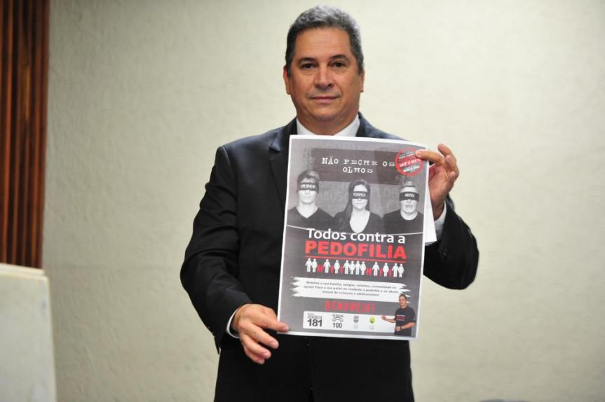 O deputado Gilson de Souza usou a tribuna para alerta as famílias sobre o crescimento nas ocorrências de violência sexual.