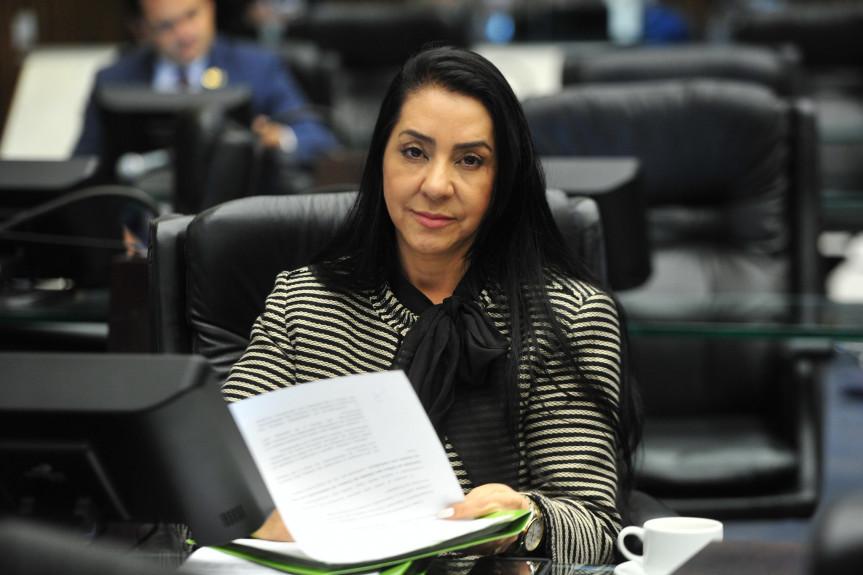Deputada Cantora Mara Lima (PSC), presidente da Comissão de Defesa dos Direitos da Mulher da Assembleia Legislativa do Paraná.