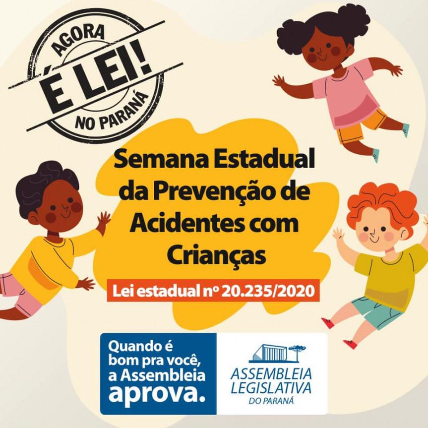 Evento on-line acontece nesta sexta-feira (28) e faz parte das ações da Semana Estadual da Prevenção de Acidentes com Crianças, conforme lei 20235/2020.