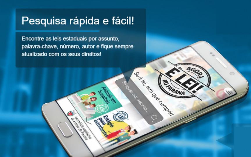 Assembleia tem ferramentas para auxiliar no direito do consumidor, como o aplicativo premiado Agora é Lei no Paraná que apresenta mais de 350 leis.
