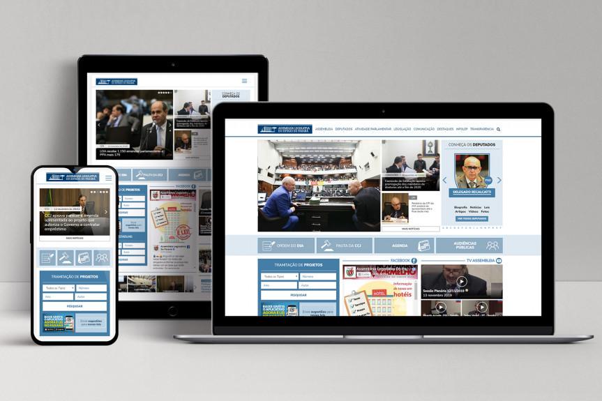 O novo Portal de Notícias da Assembleia Legislativa é um dos mais modernos do país e permite que o cidadão acompanhar, de forma mais fácil, o trabalho dos deputados.