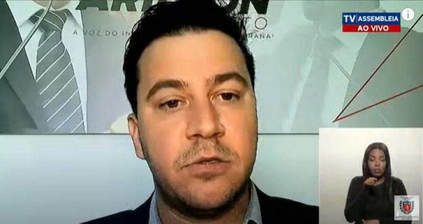 Deputado Arilson Chiorato (PT), um dos proponentes da audiência pública que debateu as demissões na fábrica da Renault no Paraná.