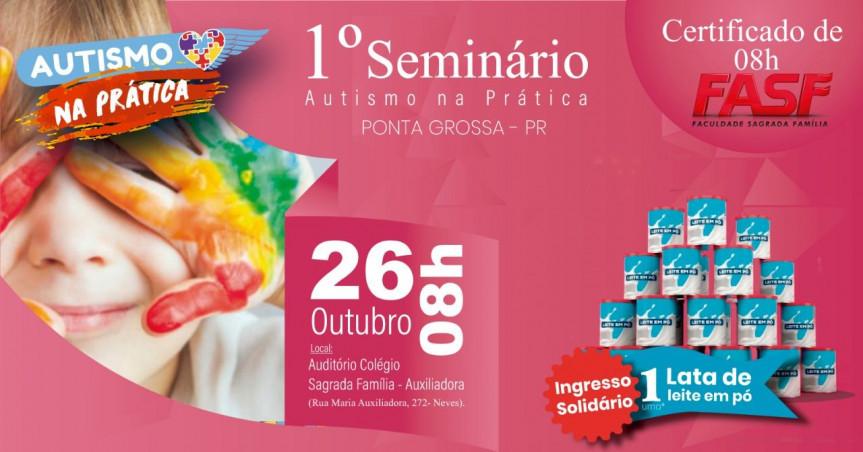 Seminário Autismo na Prática reunirá especialistas das áreas médica, pedagógica e jurídica.
