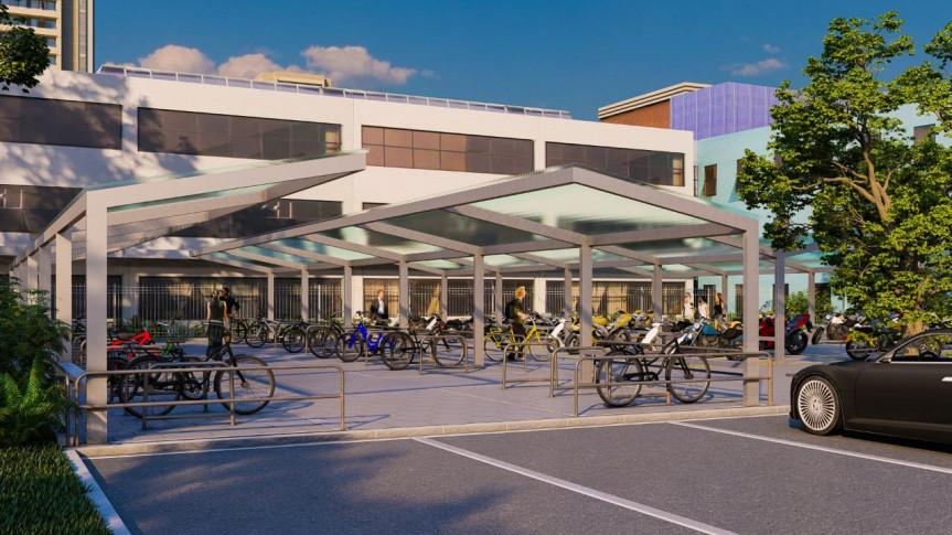 Espaço na Assembleia Legislativa comportará 56 bicicletas em espaço coberto.