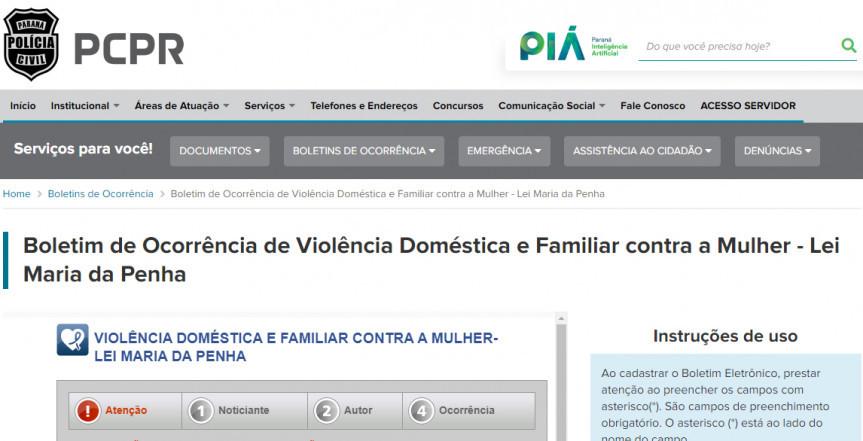 Requerimento da Assembleia Legislativa do Paraná solicitando a inclusão dos casos de violência doméstica na Delegacia Eletrônica da Polícia Civil foi atendido.