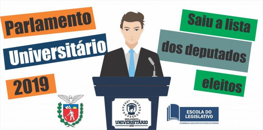 Divulgada a relação dos acadêmicos que participarão do Parlamento Universitário 2019.