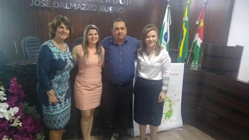 A procuradora Especial da Mulher da Assembleia Legislativa do Paraná, deputada Cristina Silvestri (PPS), participou da instalação da Procuradoria de Chopinzinho.