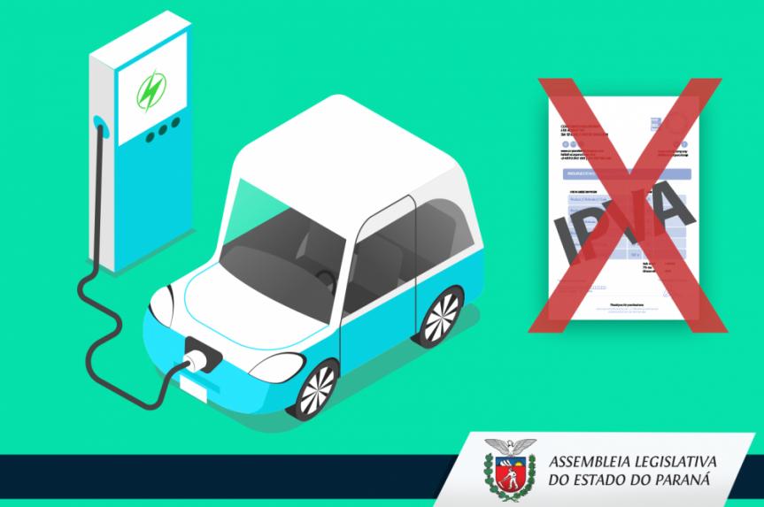 Veículos elétricos terão isenção de IPVA no Paraná.