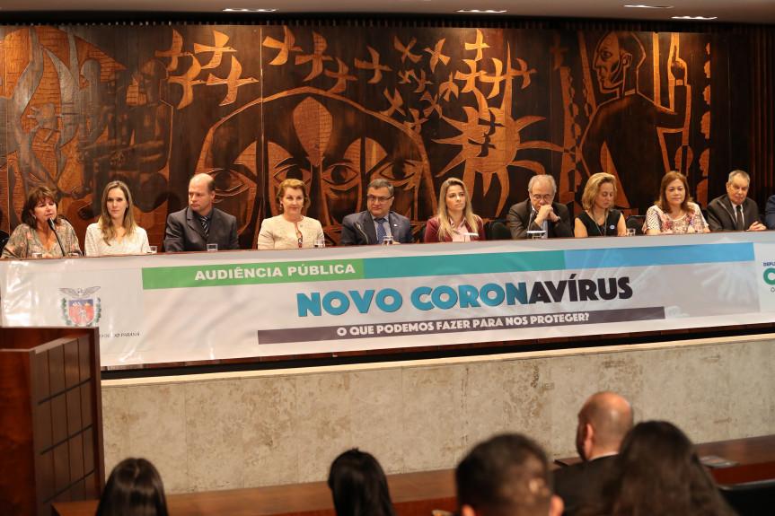 Audiência pública reuniu representes da área de Saúde do estado, municípios e União para falar sobre a mobilização para a prevenção do Coronavirús no país.