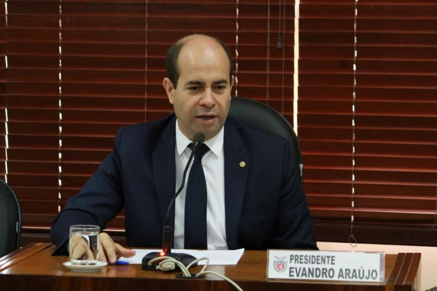 Deputado Evandro Araújo (PSC), presidente da Comissão de Orçamento da Alep.