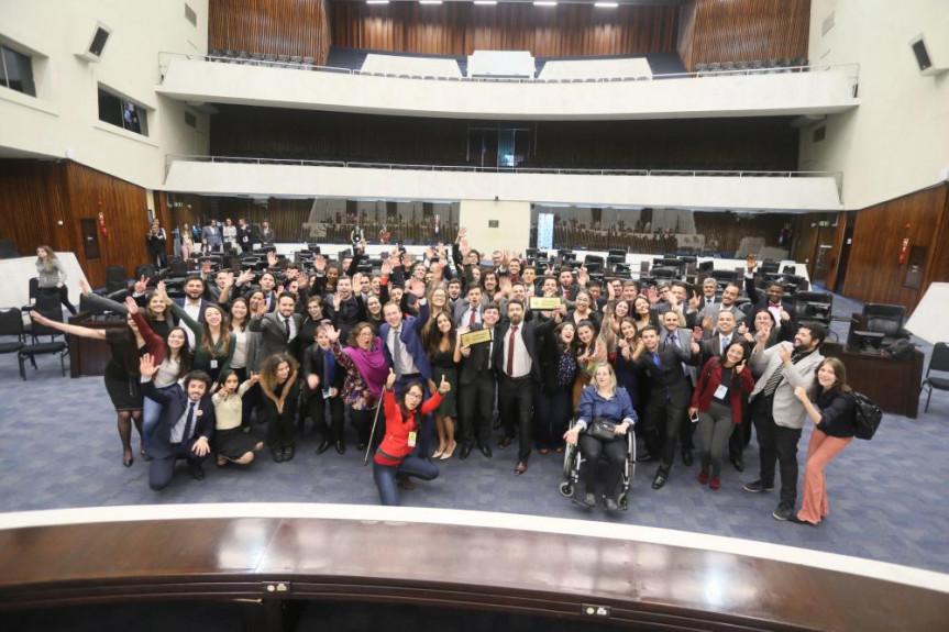 Encerramento do Parlamento Universitário 2019.