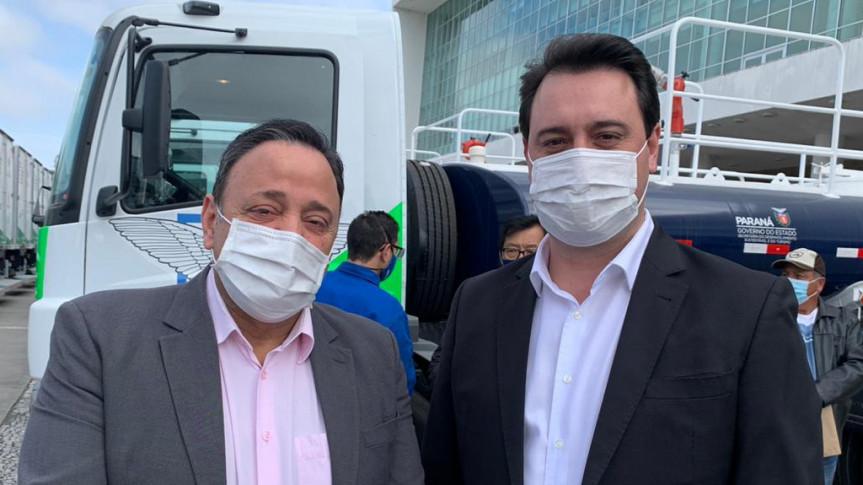 Líder do Governo, deputado Hussein Bakri (PSD) e Governador Ratinho Junior (PSD)
