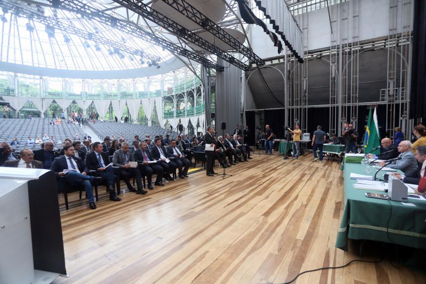 As sessões da Assembleia desta quarta-feira (04) foram realizadas na Ópera de Arame por motivos de segurança.