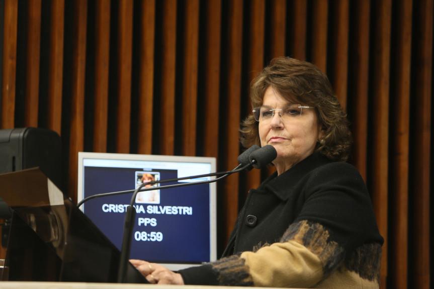 Deputada Cristina Silvestri (PPS), Procuradora da Mulher na Assembleia Legislativa do Paraná.