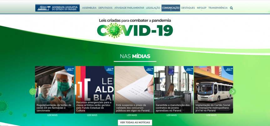 Para facilitar o acesso do cidadão à informação correta e de forma ágil sobre a Covid-19, a Assembleia Legislativa do Paraná lançou em sua página na internet uma nova ferramenta destinada às ações de enfrentamento ao coronavírus.