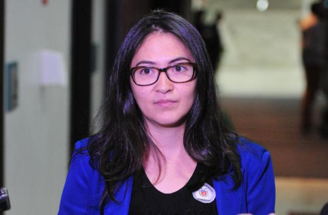 Juliana Galassi, mestranda da UEL. / Foto: Pedro de Oliveira/Alep