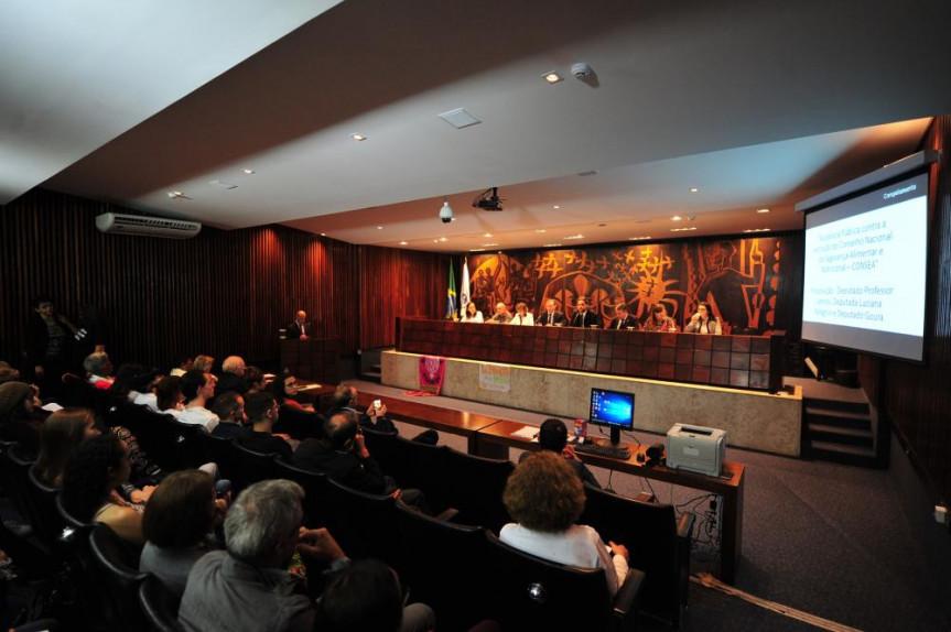 Durante a audiência foram realizadas duas mesas redondas para debater a alimentação dos brasileiros.