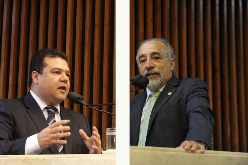 Da esquerda para a direita, deputados Rasca Rodrigues (PV) e Edson Praczyk (PRB), autores do projeto de lei.