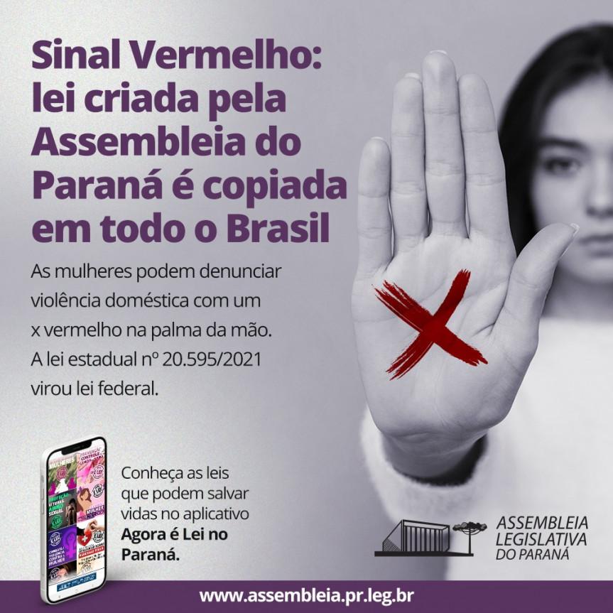 A lei do Sinal Vermelho, criada pela Assembleia Legislativa do Paraná, acaba de virar lei federal