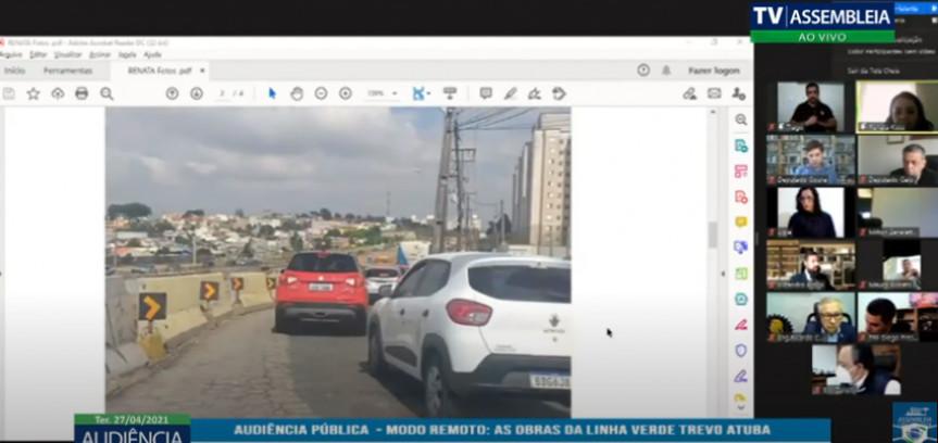 Audiência pública ouviu sociedade sobre os atrasos nas obras da Linha Verde, em Curitiba.