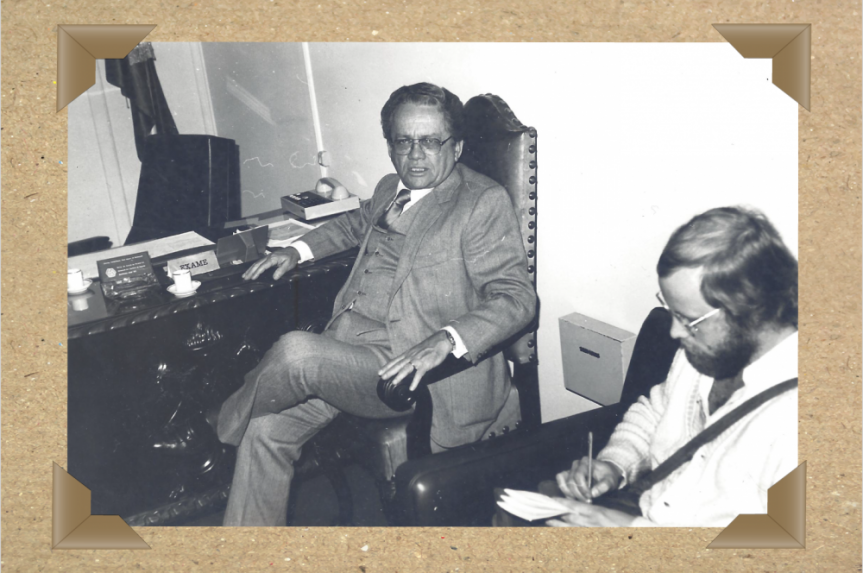 Alencar Furtado concede entrevista na Assembleia Legislativa, nos anos 80.