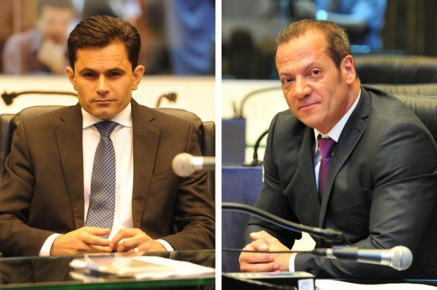 Deputados Marcio Pacheco (PPL) e Gilberto Ribeiro (PRB).