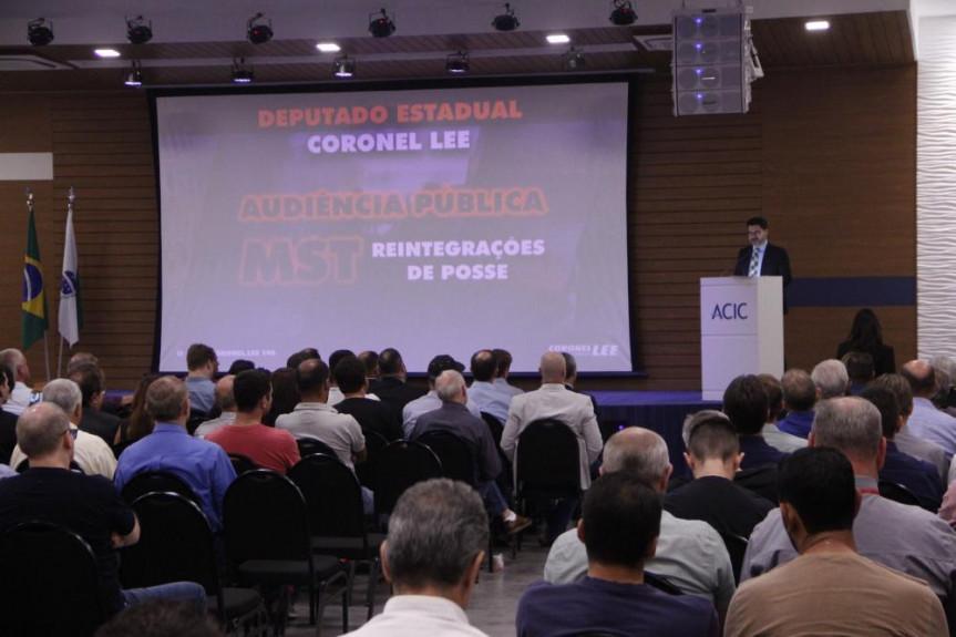 Deputado Coronel Lee (PSL) propôs um debate sobre reintegração de posse que aconteceu na cidade de Cascavel.