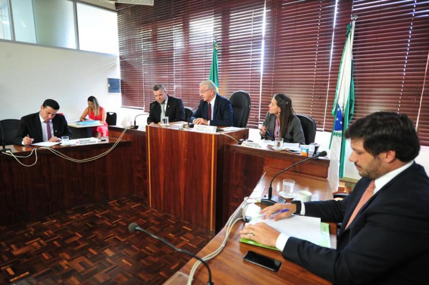 A reunião foi presidida pelo deputado Nelson Justus (DEM).
