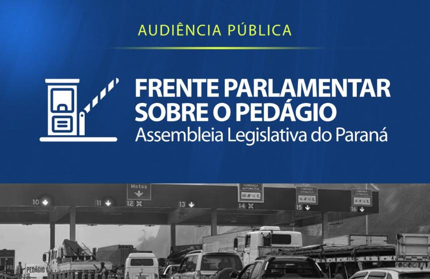 Audiência pública remota será realizada pela Frente Parlamentar sobre o Pedágio da Assembleia Legislativa nesta sexta-feira (26) a partir das 9 horas.