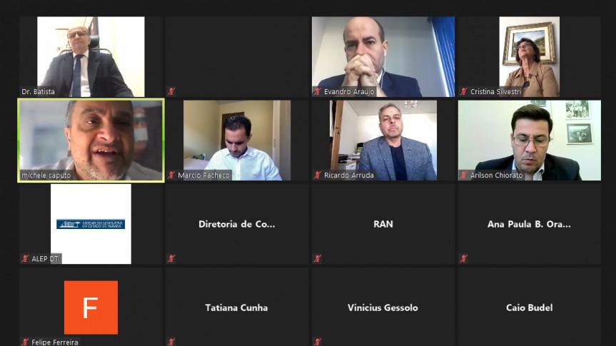 Reunião remota da Comissão de Saúde Publica da Assembleia Legislativa do Paraná.