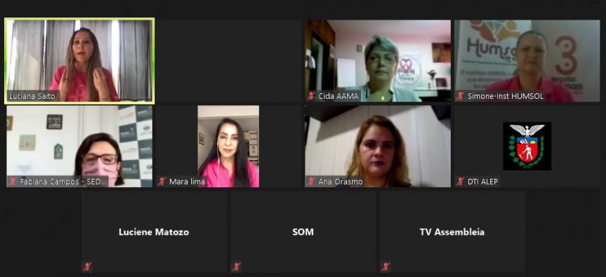 Em um encontro por videoconferência, deputada Cantora Mara Lima (PSC), representantes do Governo do Estado e de entidades que atuam na prevenção do câncer de mama, demonstraram preocupação com os números frente à covid-19.