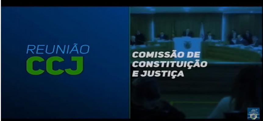 Reunião da CCJ desta terça-feira (11).