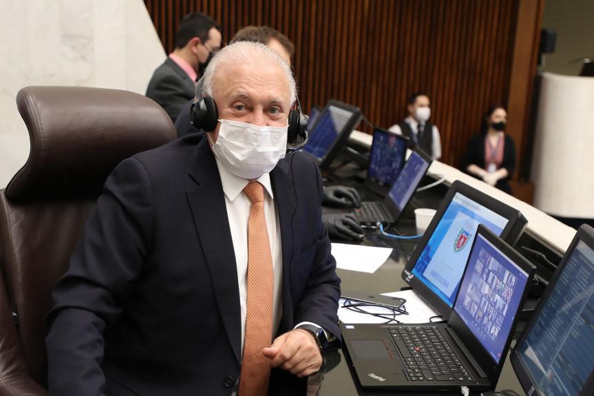 Presidente da Assembleia Legislativa do Paraná, deputado Ademar Traiano (PSDB).