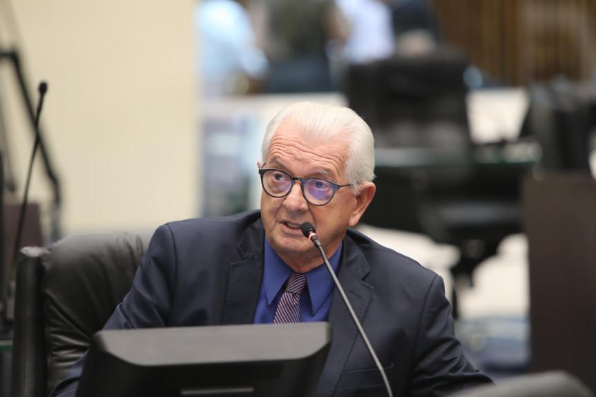 Deputado Nelson Justus (DEM), presidente da Comissão de Finanças e Tributação da Assembleia Legislativa do Paraná.