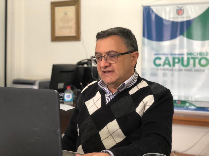 Deputado Michele Caputo (PSDB), coordenador da Frente Parlamentar do Coronavírus na Assembleia Legislativa do Paraná.