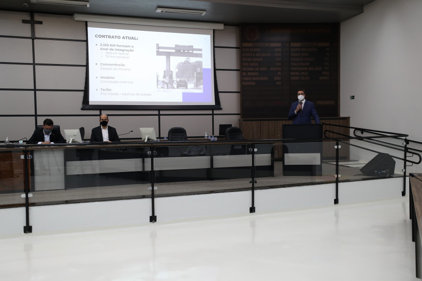 Frente Parlamentar sobre o novo modelo de pedágio no Paraná, aconteceu na manhã desta sexta-feira (21) na cidade de Maringá.