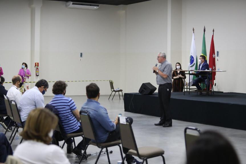 Dom Geremias Steinmetz, arcebispo de Londrina, na audiência pública da Frente Parlamentar sobre o Pedágio